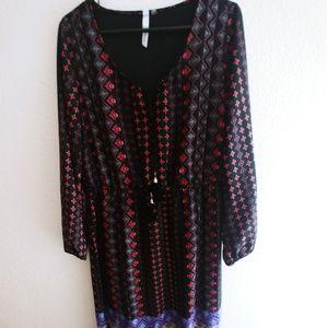 NY Collection Boho Maxi Dress Size L